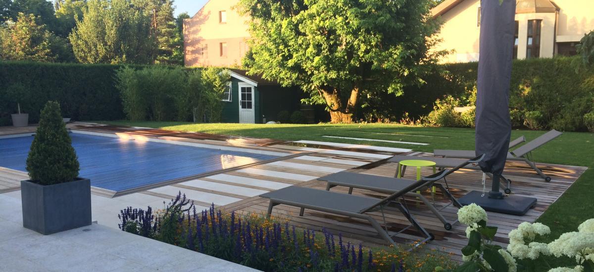 Terrasse bois et menuiserie setex paysagistes gen ve for Entretien jardin geneve